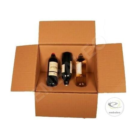 caisse carton pour bouteilles