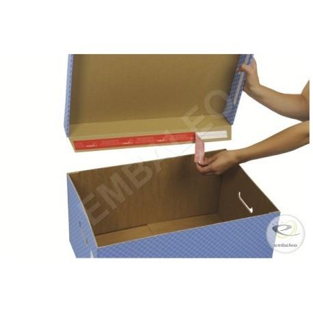 Containers pour boite archive gris avec couvercle 43 x 33,5 x 27 cm
