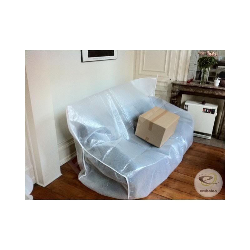 housse canap en film bulle et film mousse. Black Bedroom Furniture Sets. Home Design Ideas