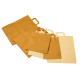 Sachet Kraft brun avec poignées plates 20 x 10 x 28 cm