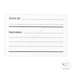 """Etiquette Adresse """"DESTINATAIRE EXPEDITEUR"""""""
