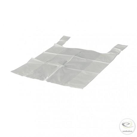 Sac plastique blanc à bretelles 13 µ