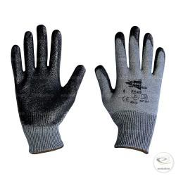 Paires de Gants Anti-Coupure en nitrile gris