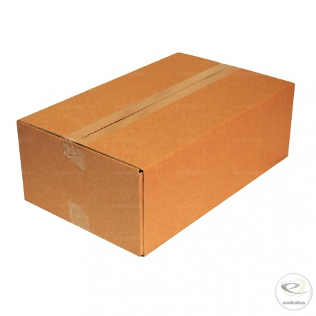 Carton simple cannelure 45 x 28 x 15 cm