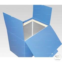 Caisse isotherme réutilisable en plastique et mousse de polyuréthane