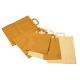 Sac kraft brun avec poignées plates 30 x 18 x 43 cm
