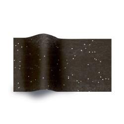 Papier de soie noir pailleté