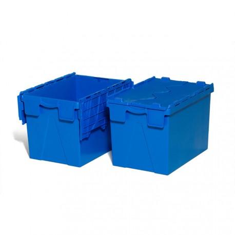 meilleur service 39a5d b574b Bac gerbable emboitable plein avec couvercle intégré - 60x40x40 cm