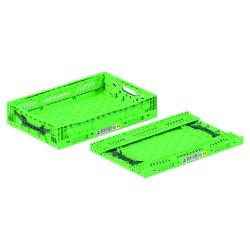 Caisse plastique pliable ajourée 60 x 40 x 12 cm