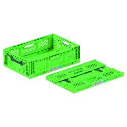 Caisse plastique pliable ajourée 60 x 40 x 18 cm