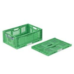 Caisse plastique pliable ajourée 60 x 40 x 23 cm