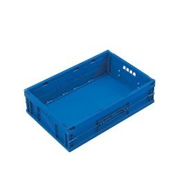 Caisse plastique pliable pleine 60 x 40 x 16,5 cm