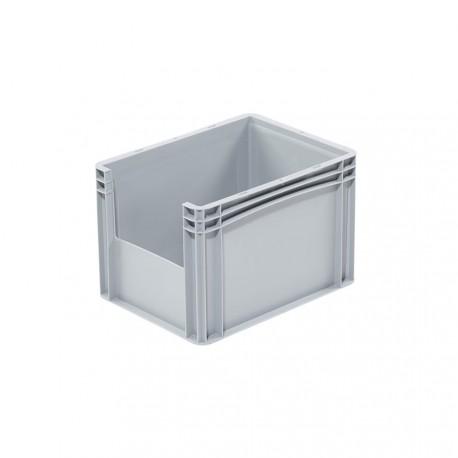 Bac de rangement plastique avec ouverture norme Europe 40 x 30 x 27 cm