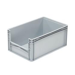 Bac de rangement plastique avec ouverture norme Europe 60 x 40 x 27 cm