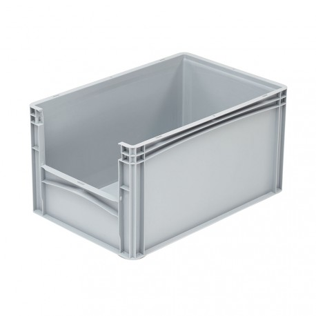 Bac de rangement plastique avec ouverture norme Europe 60 x 40 x 32 cm
