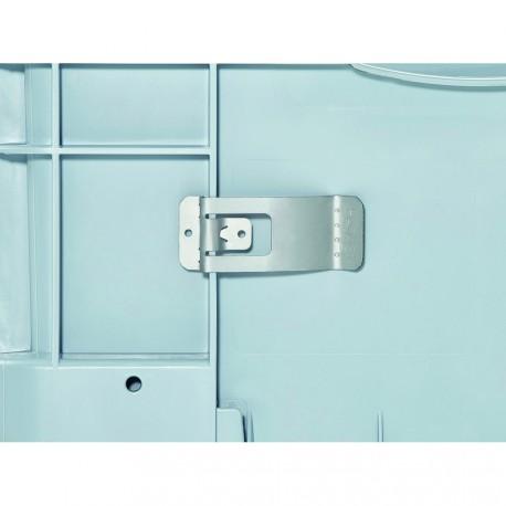 Porte-étiquette métallique à ressort 7,4x3x1,5 cm