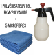 Kit pulvérisateur 1,6L FKM/Polyamide + 5 microfibres