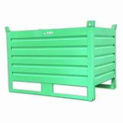 Panier de stockage en tôle pleine avec portillon rabattable 120 x 80 cm