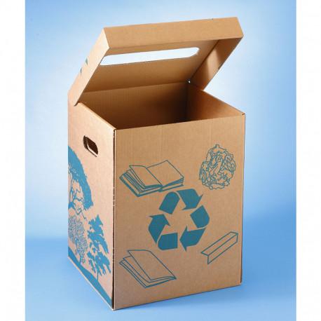Corbeille à papier en carton 36L avec dessin