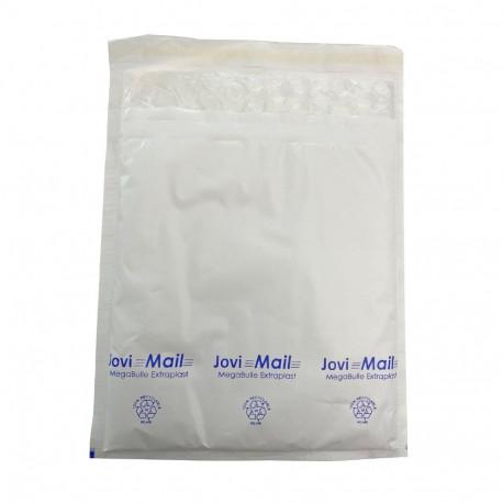 Enveloppe bulle plastifiée H MegaBulle Extraplast Blanche 27 x 35 cm