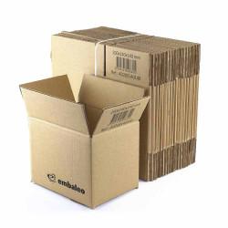 Carton simple cannelure 20 x 14 x 14 cm - Destockage