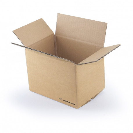 Carton simple cannelure 20 x 14 x 14 cm