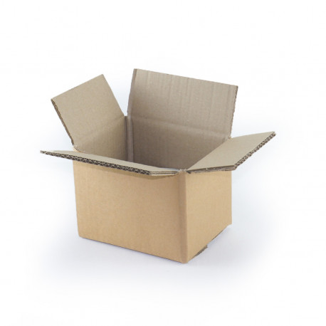 Carton double cannelure 16 x 12 x 11 cm