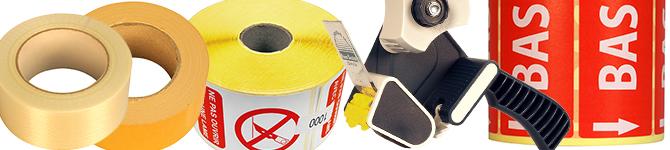 Rubans adhésifs et étiquettes