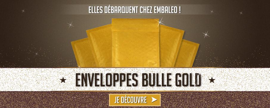 ENVELOPPES BULLES GOLD