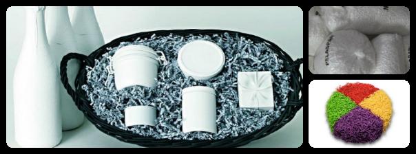 Particules de calage et frisure de papier sizzle pack