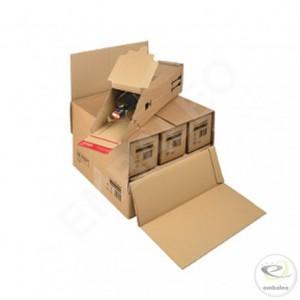 carton de regroupement pour carton d'expédition 1 bouteille