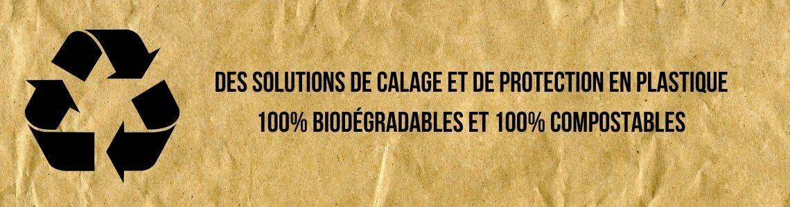 Solutions de calage 100% biodégradables et compostables