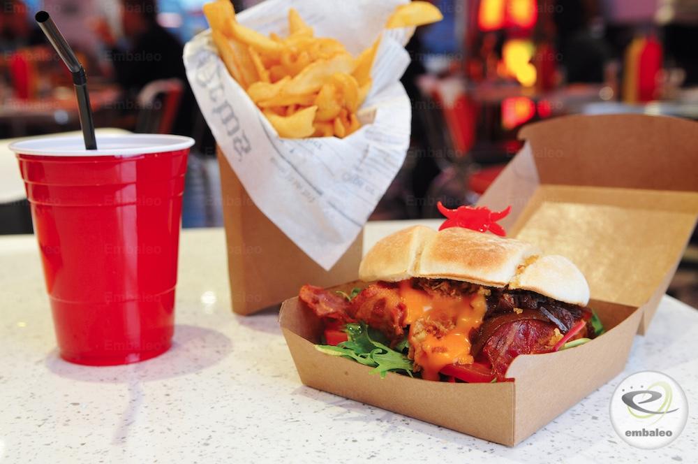 Emballage burger et cornet de frites