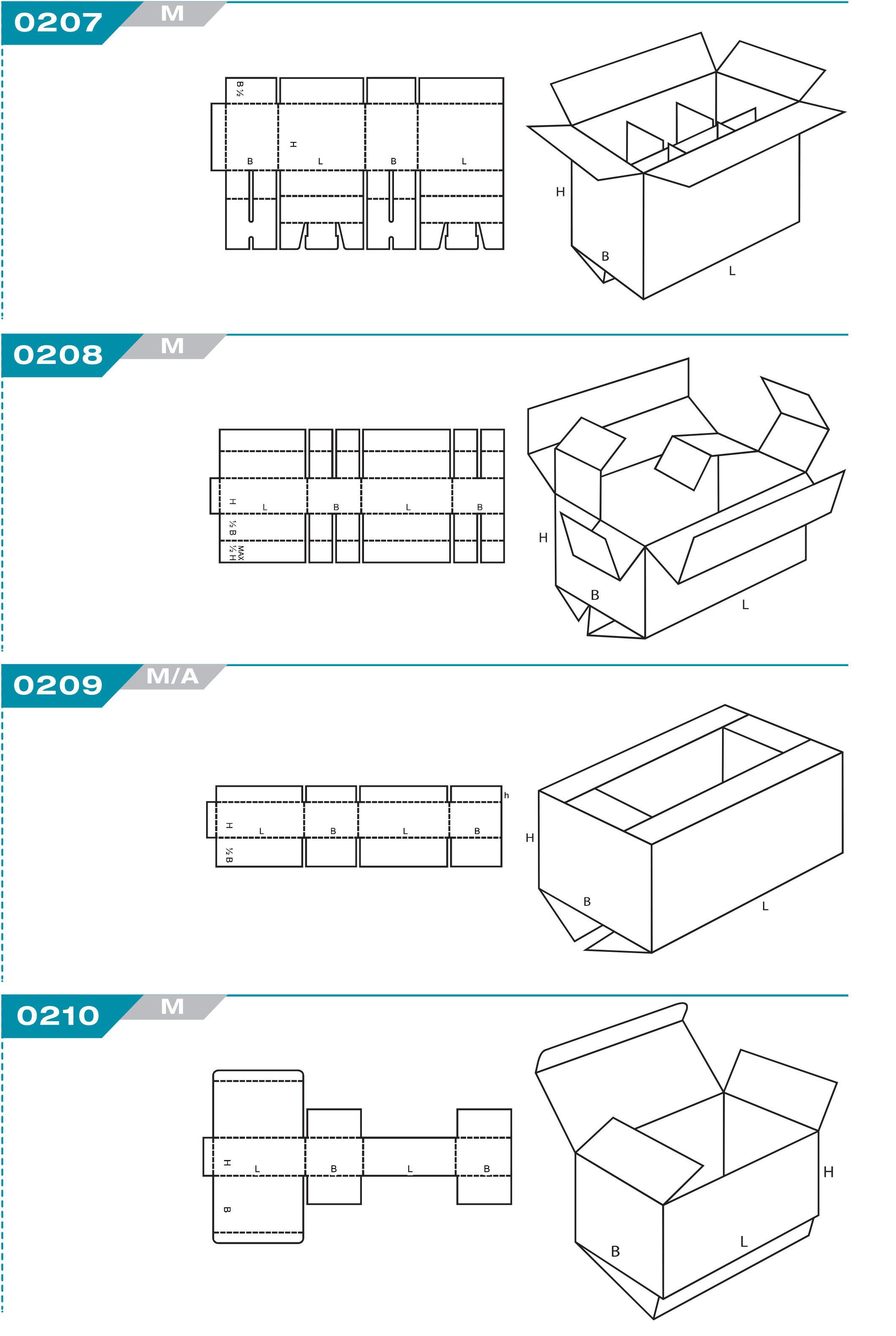 code fefco carton à rabats