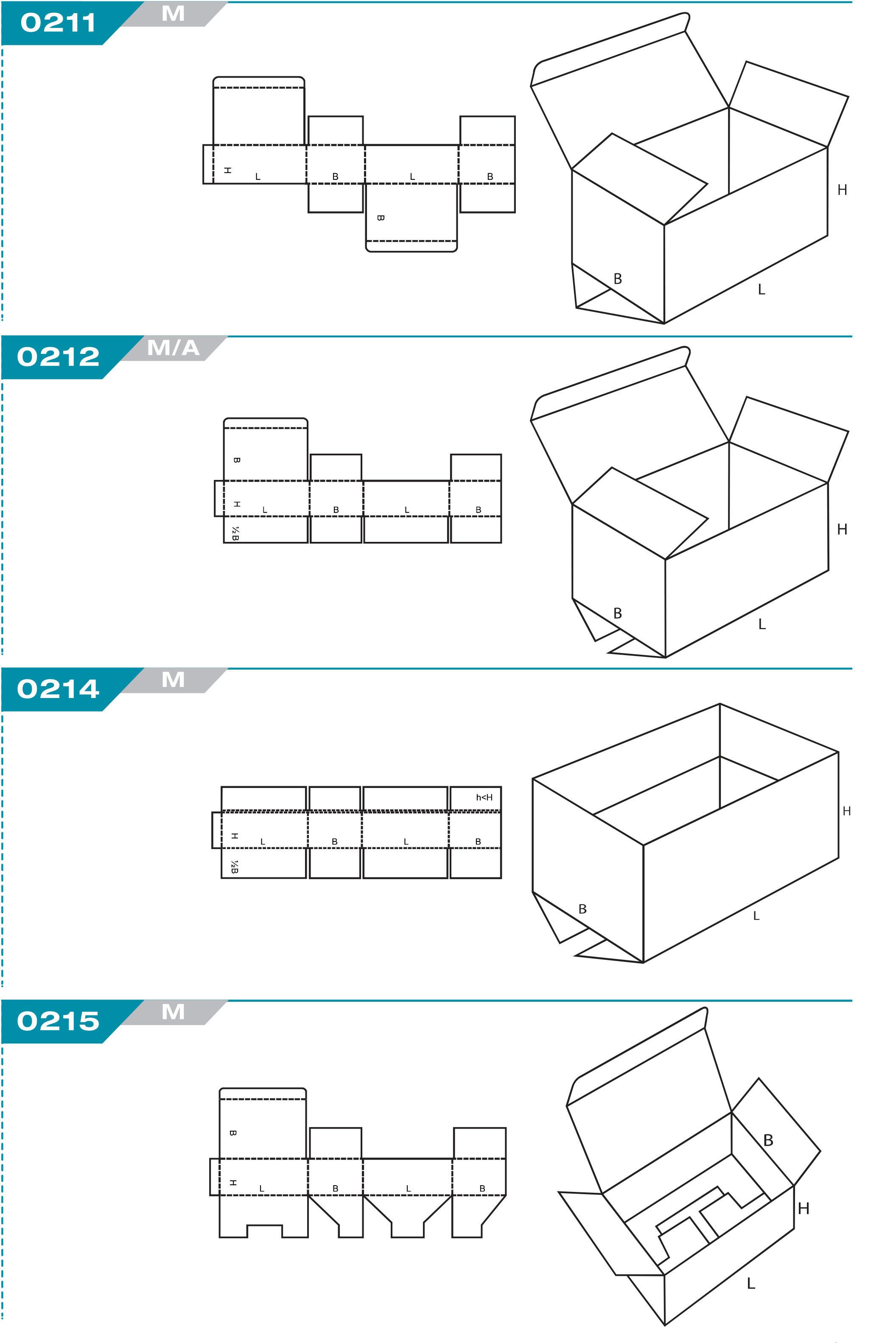 code fefco caisse carton rabat