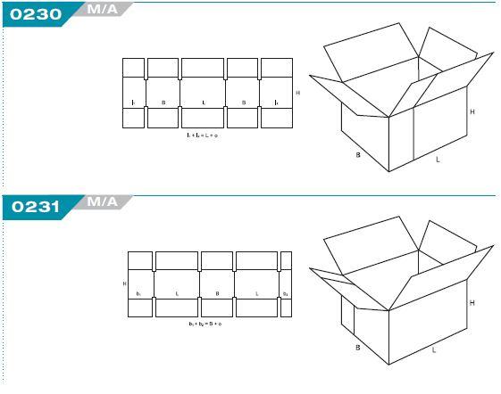 code fefco caisse carton à rabat