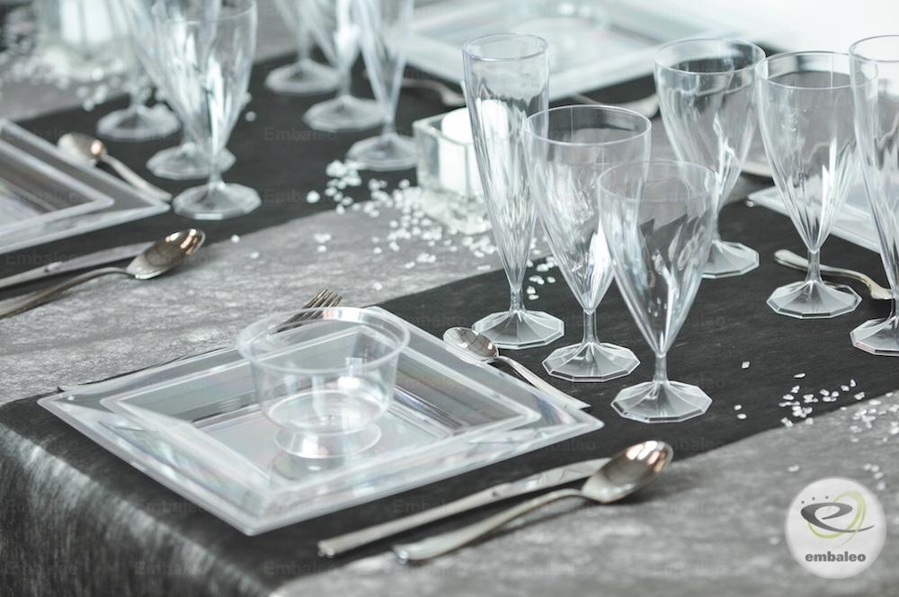 Vaisselle jetable transparent