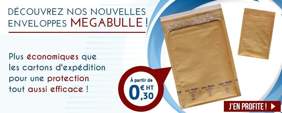 Découvrez les enveloppes bulles MegaBulle, aussi efficaces qu'une boite postale.